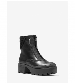 MICHAEL Michael Kors Channing Leather and Sherpa Boot