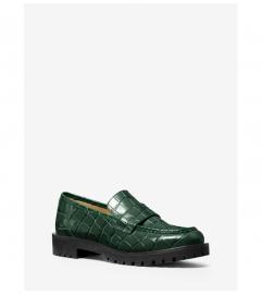 MICHAEL Michael Kors Holland Crocodile Embossed Leather Loafer