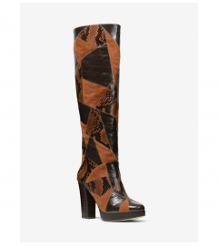 MICHAEL Michael Kors Hanya Patchwork Leather and Suede Boot