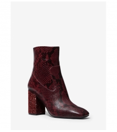 MICHAEL Michael Kors Marcella Flex Snake Embossed Leather Ankle Boot