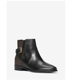 MICHAEL Michael Kors Salem Leather and Logo Ankle Boot