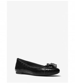 MICHAEL Michael Kors Alice Embossed-Leather Ballet Flat