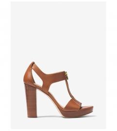 MICHAEL Michael Kors Berkley Lock Leather Platform Sandal