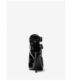 MICHAEL Michael Kors Blaze Patent Leather Open-Toe Bootie