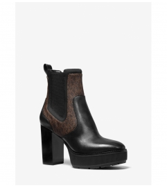 MICHAEL Michael Kors Cramer Logo and Leather Platform Boot