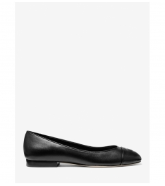 MICHAEL Michael Kors Dylyn Logo Leather Ballet Flat