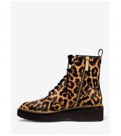 MICHAEL Michael Kors Haskell Leopard Calf Hair Combat Boot