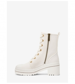MICHAEL Michael Kors Corey Canvas Combat Boot