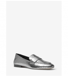 MICHAEL Michael Kors Emory Crackled Metallic Leather Loafer