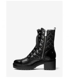 MICHAEL Michael Kors Tilda Quilted Leather Combat Boot