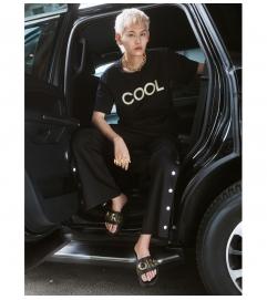 MICHAEL Michael Kors Cortlandt Embellished Leather Slide