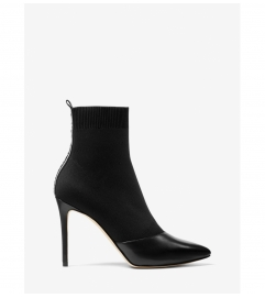 MICHAEL Michael Kors Vicky Logo Tape Knit Ankle Boot