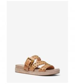 MICHAEL Michael Kors Ansel Studded Leather Slide Sandal