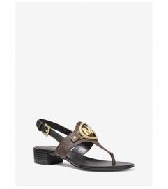 MICHAEL Michael Kors Ashland Two-Tone Logo Sandal