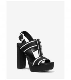 MICHAEL Michael Kors Becker Contrast-Trim Scuba Platform Sandal