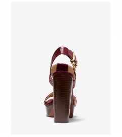 MICHAEL Michael Kors Becker Crocodile-Embossed Leather Platform Sandal