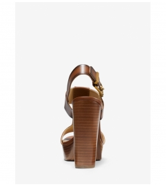 MICHAEL Michael Kors Becker Burnished Leather Platform Sandal