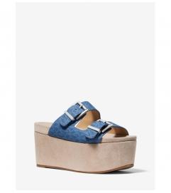 MICHAEL Michael Kors Delilah Logo and Suede Flatform Sandal