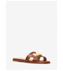 MICHAEL Michael Kors Kippy Embellished Leather Slide Sandal