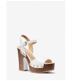 MICHAEL Michael Kors Leonor Leather Platform Sandal