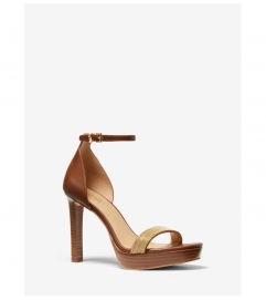 MICHAEL Michael Kors Margot Embellished Leather Platform Sandal