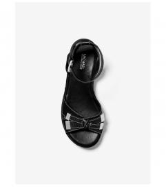 MICHAEL Michael Kors Ripley Pebbled Leather Espadrille Sandal