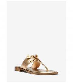 MICHAEL Michael Kors Ripley Metallic Leather Slide Sandal