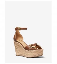 MICHAEL Michael Kors Ripley Leather Wedge Sandal