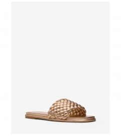 MICHAEL Michael Kors Amelia Metallic Braided Slide Sandal