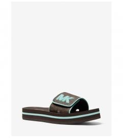 MICHAEL Michael Kors Logo Platform Slide Sandal