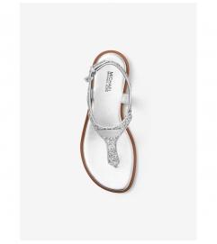 MICHAEL Michael Kors Logo Plate Glitter Sandal