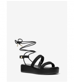 MICHAEL Michael Kors Marina Woven Nylon Lace-Up Sandal