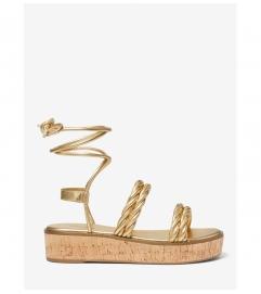 MICHAEL Michael Kors Marina Metallic Woven Lace-Up Sandal
