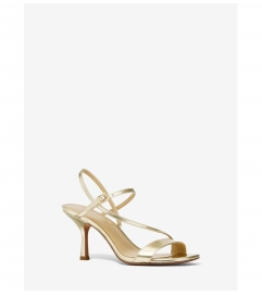 MICHAEL Michael Kors Tasha Metallic Leather Sandal