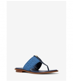 MICHAEL Michael Kors Verity Logo and Leather Sandal
