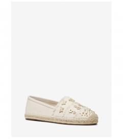 MICHAEL Michael Kors Tibby Studded Canvas Slip-On Espadrille