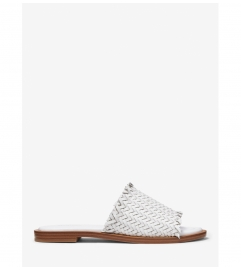 MICHAEL Michael Kors Dee Woven Leather Slide Sandal