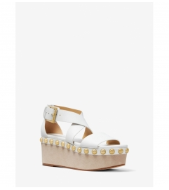MICHAEL Michael Kors Garner Studded Leather Flatform