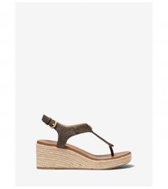 MICHAEL Michael Kors Laney Logo Espadrille Wedge Sandal