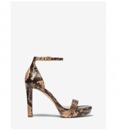 MICHAEL Michael Kors Margot Python Embossed Leather Sandal