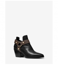 MICHAEL Michael Kors Pamela Leather and Logo Ankle Boot