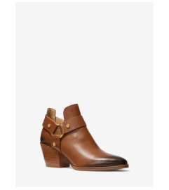 MICHAEL Michael Kors Pamela Burnished Leather Ankle Boot