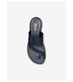 MICHAEL Michael Kors Pratt Crocodile Embossed Leather Sandal