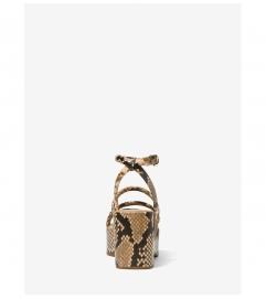 MICHAEL Michael Kors Hazel Python Embossed Leather Platform Sandal