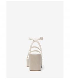 MICHAEL Michael Kors Hazel Leather Platform Sandal