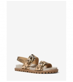 MICHAEL Michael Kors Judd Snake Embossed Leather Sandal
