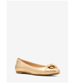 MICHAEL Michael Kors Alice Metallic Leather Ballet Flat