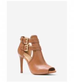 MICHAEL Michael Kors Blaze Open-Toe Leather Ankle Boot