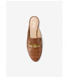 MICHAEL Michael Kors Charlton Crocodile-Embossed Leather Slide
