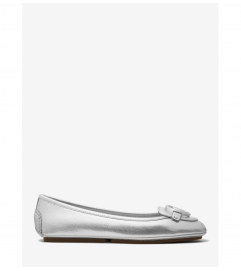 MICHAEL Michael Kors Lillie Metallic Saffiano Leather Moccasin